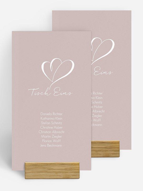 Gruppentischkarte Herz an Herz