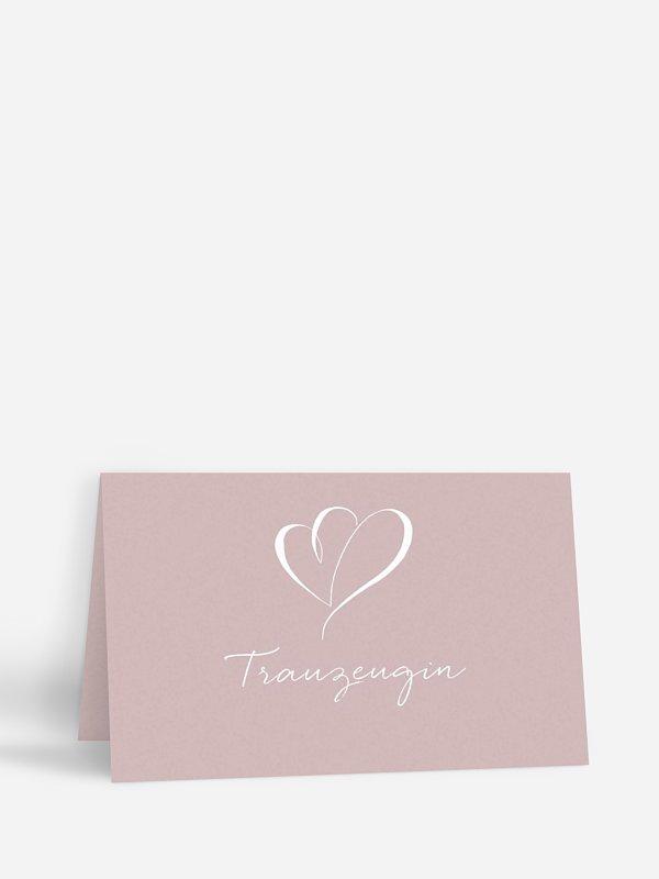 Tischkarte Hochzeit Herz an Herz