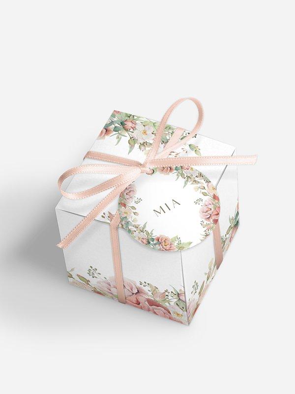 Gastgeschenkbox personalisiert Romantic Garden