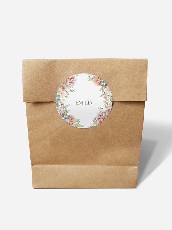 Papiertüte personalisiert Romantic Garden