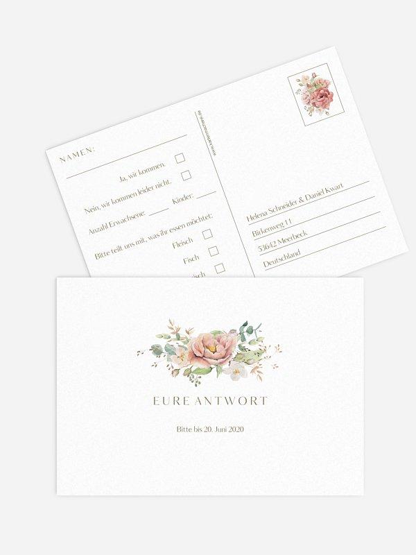 Antwortkarte Hochzeit Romantic Garden
