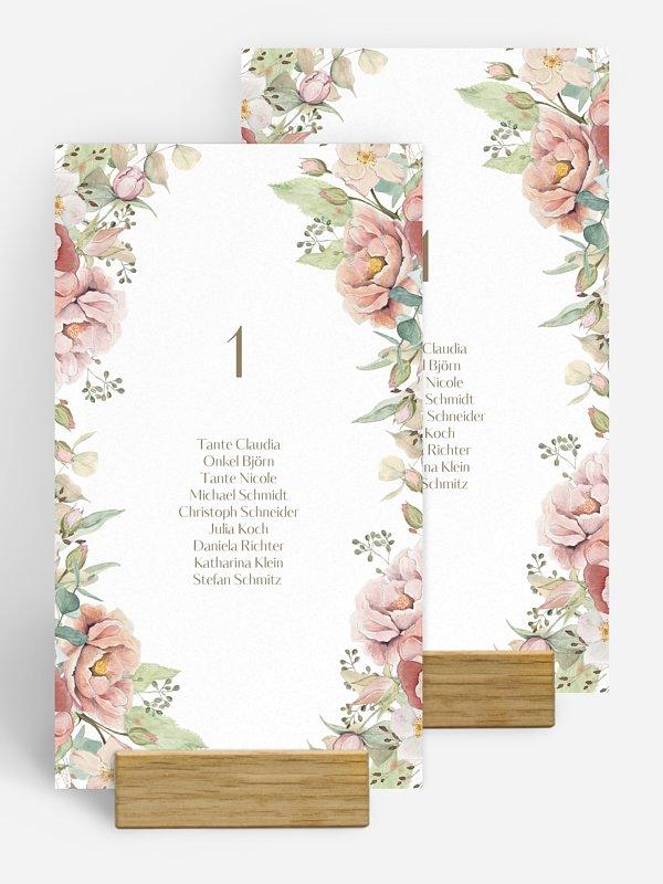Gruppentischkarte Romantic Garden