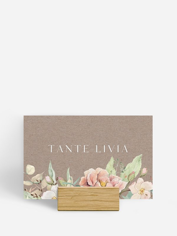 Tischkarte Hochzeit Romantic Garden