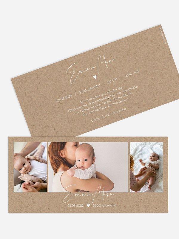 Geburtskarte Crafty