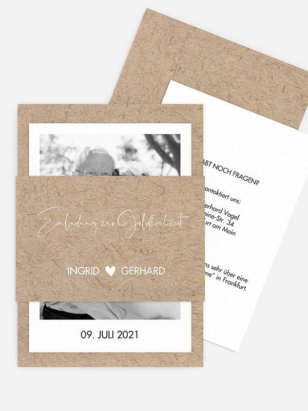 Einladung zur Goldenen Hochzeit Crafty