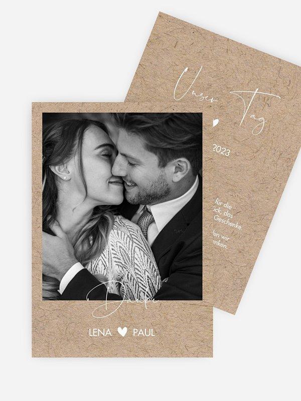 Dankeskarte Hochzeit Crafty