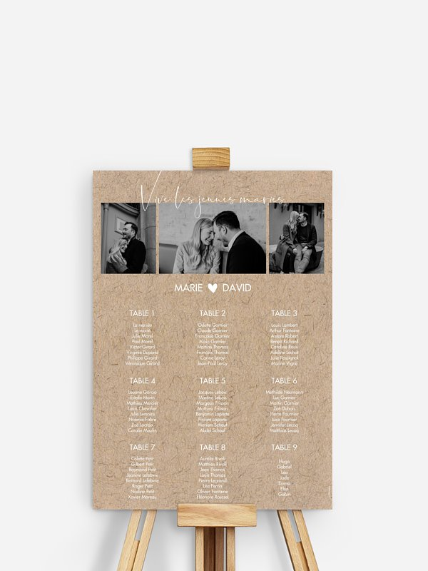 Poster plan de table mariage Crafty