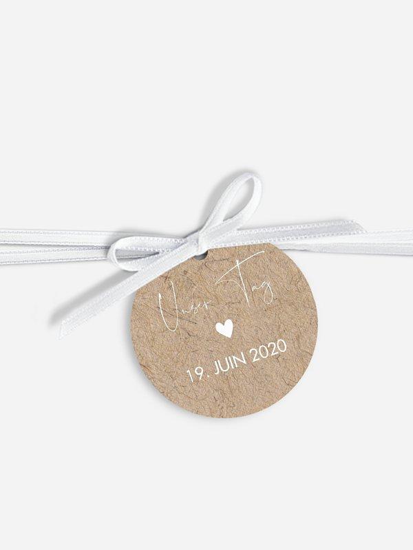 Étiquette avec ruban Crafty