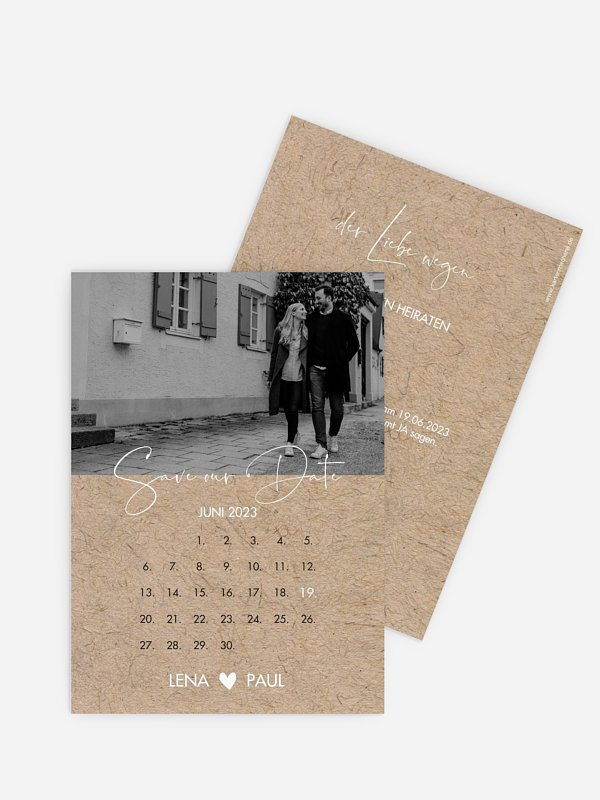 Save-the-Date Karte Crafty
