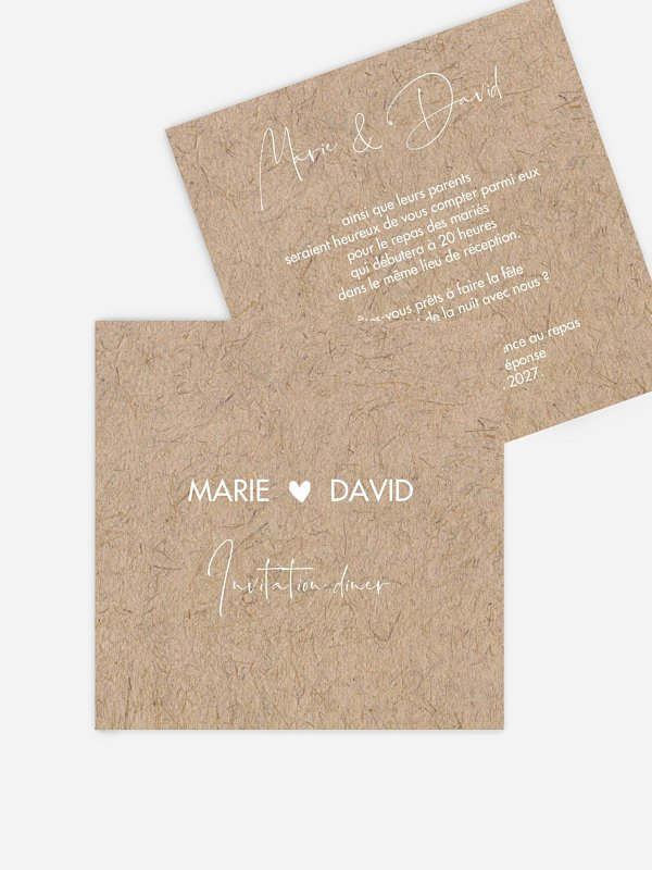 Carton d'invitation Crafty
