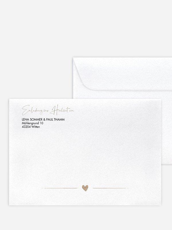 Briefumschlag mit Motiv Crafty