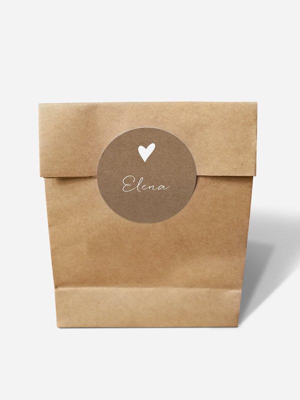 Papiertüte personalisiert Liebesglück