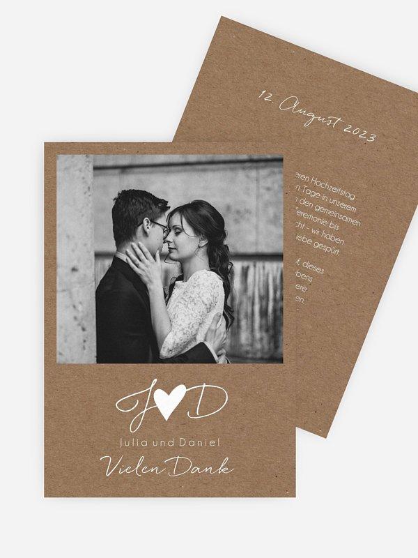 Dankeskarte Hochzeit Liebesglück