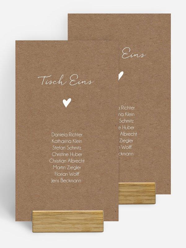 Gruppentischkarte Liebesglück