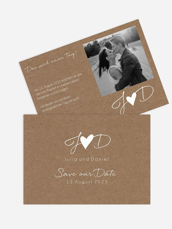 Save-the-Date Karte Liebesglück