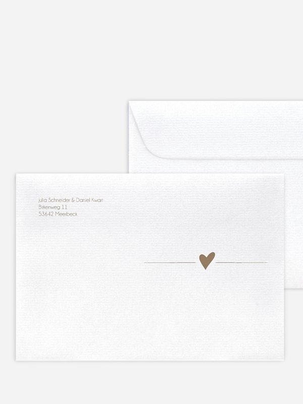 Briefumschlag mit Motiv Liebesglück