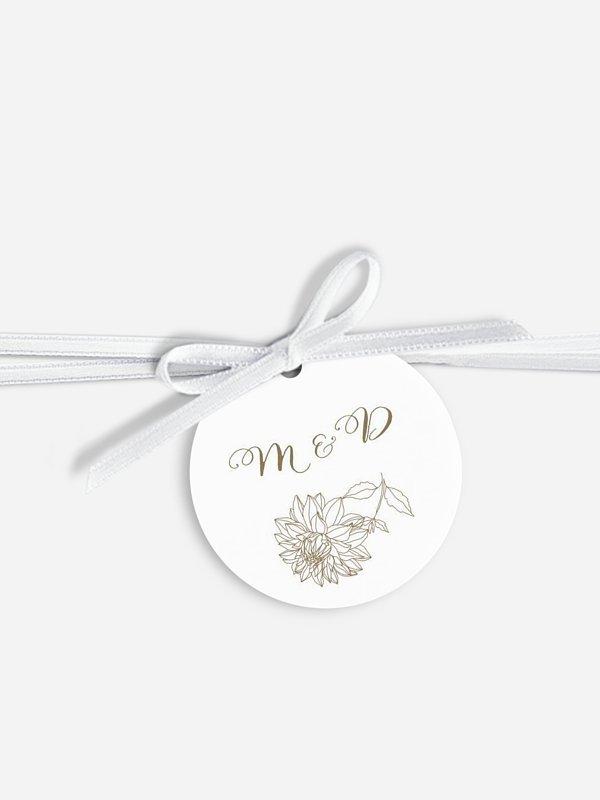 Étiquette avec ruban Amour champêtre