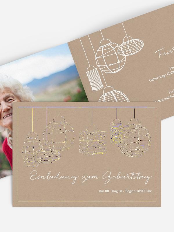 Einladung 90. Geburtstag Good Vibes