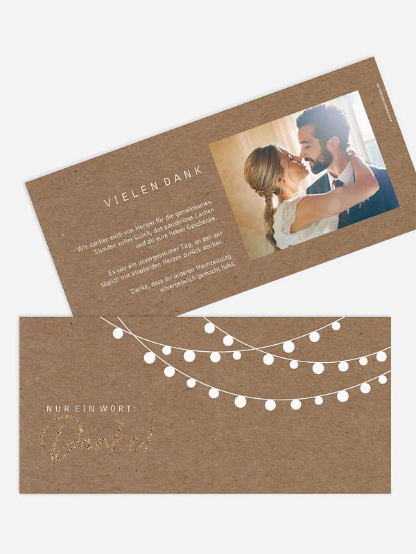 Dankeskarte Hochzeit Lichterzauber