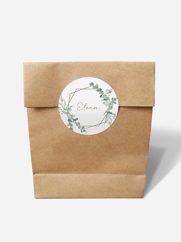 Papiertüte personalisiert Soft Greenery