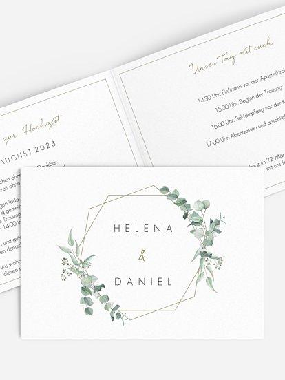 """Hochzeitseinladung """"Soft Greenery"""""""