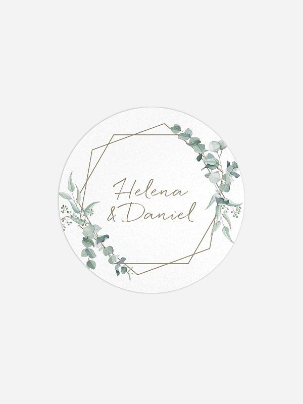 Geschenkaufkleber Hochzeit Soft Greenery