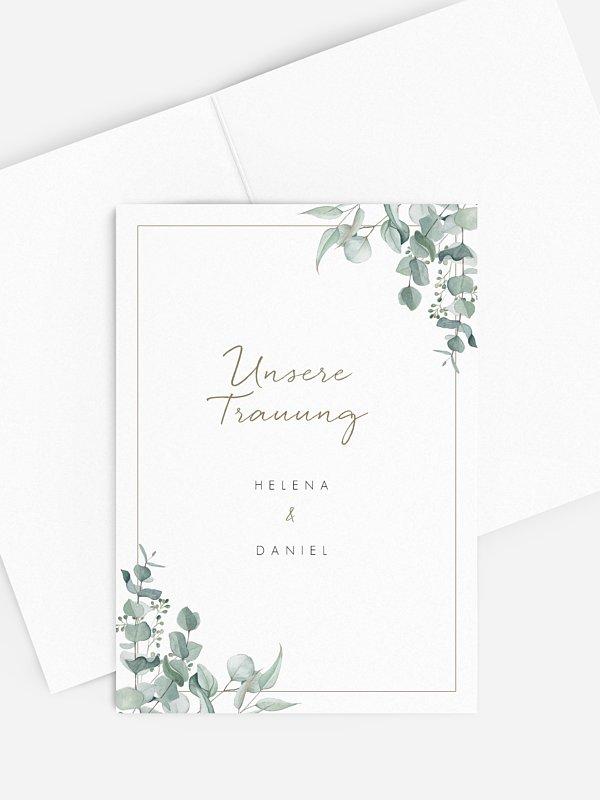 Kirchenheft Hochzeit Soft Greenery
