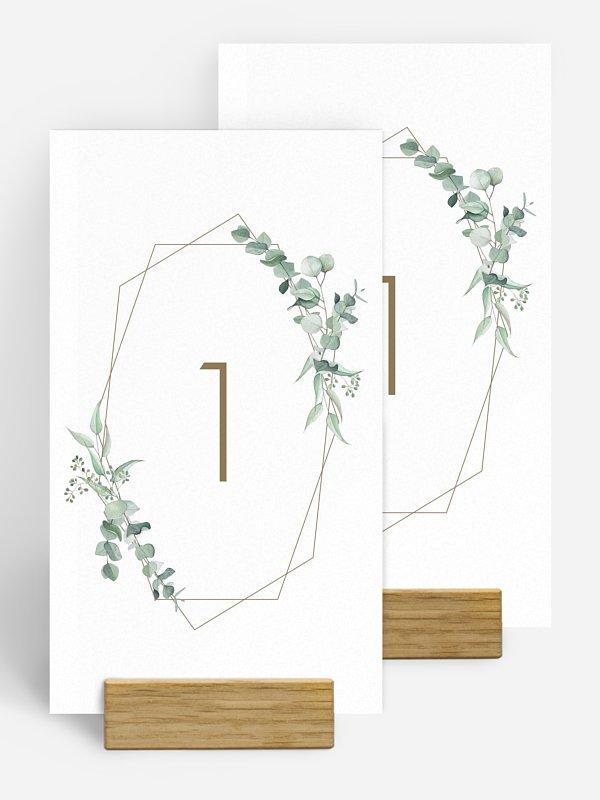 Numéro de table mariage Soft Greenery