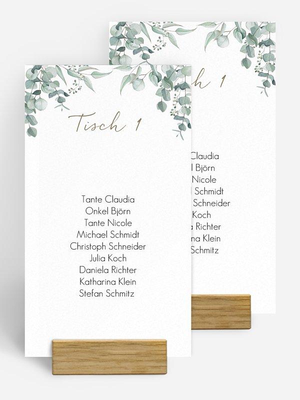 Gruppentischkarte Soft Greenery