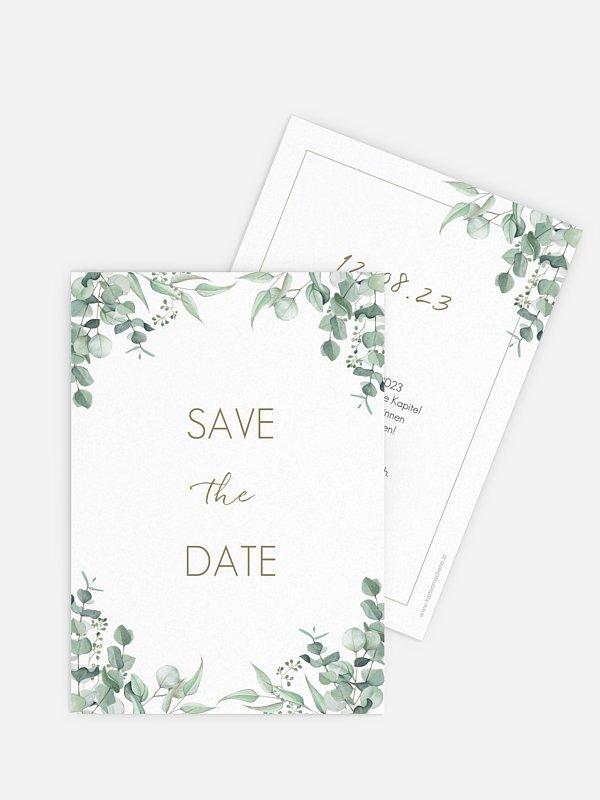 Save-the-Date Karte Soft Greenery