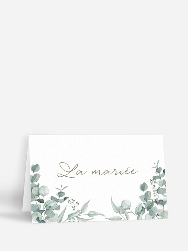 Marque-place mariage Soft Greenery