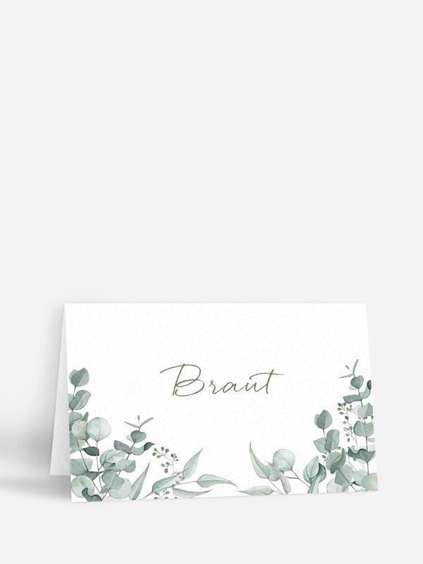 Tischkarte Hochzeit Soft Greenery