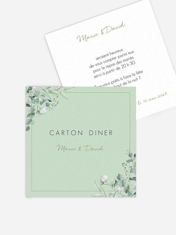 Carton d'invitation Soft Greenery