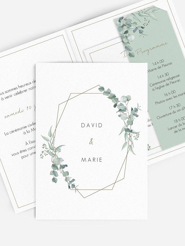 Faire-part de mariage Soft Greenery