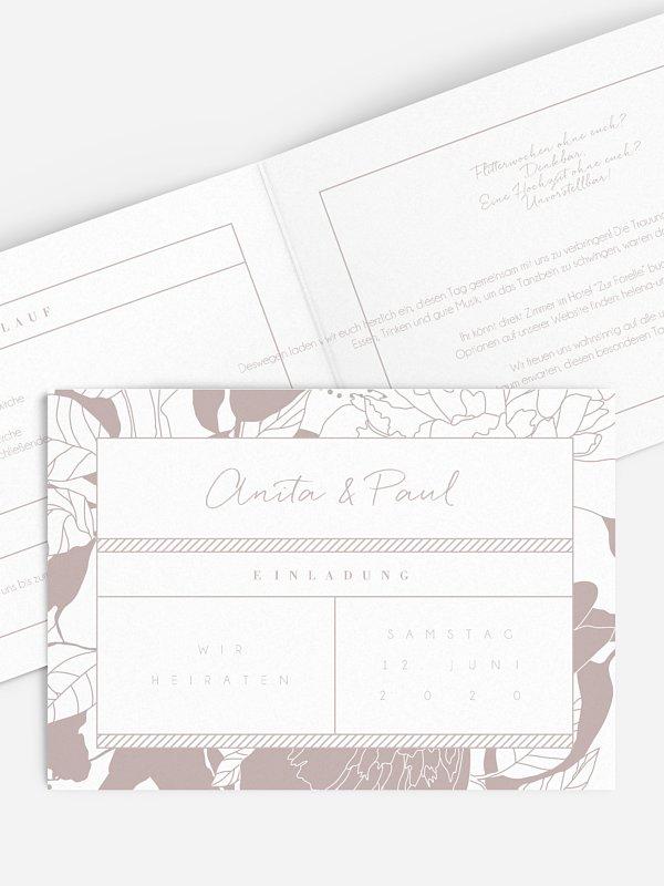 Hochzeitseinladung Ourea