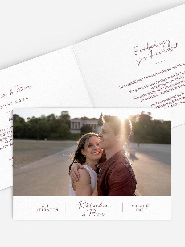 Hochzeitseinladung Serendipity