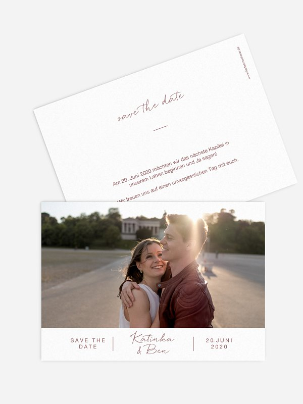 Save-the-Date Karte Serendipity
