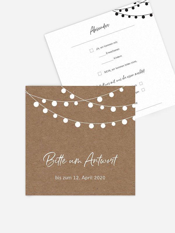 Antwortkarte Hochzeit Powder Blush