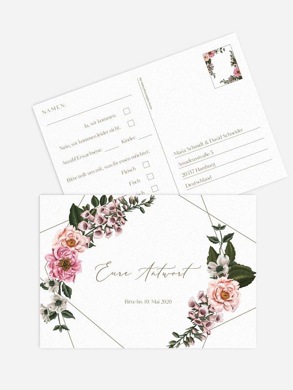 Antwortkarte Hochzeit In Bloom