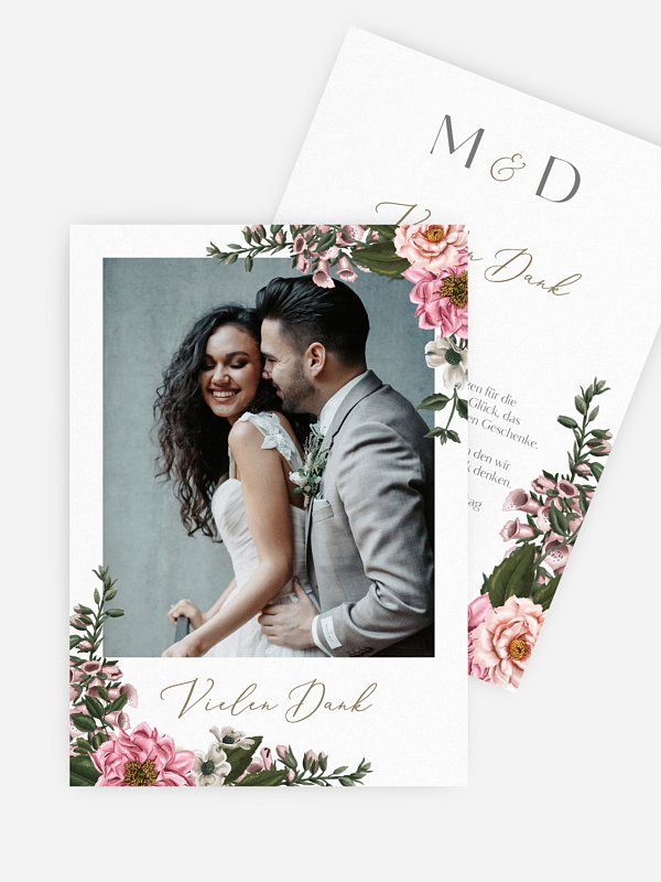 Dankeskarte Hochzeit In Bloom