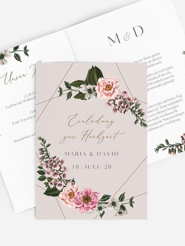 Hochzeitseinladung In Bloom