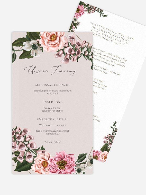 Kirchenheft Hochzeit In Bloom