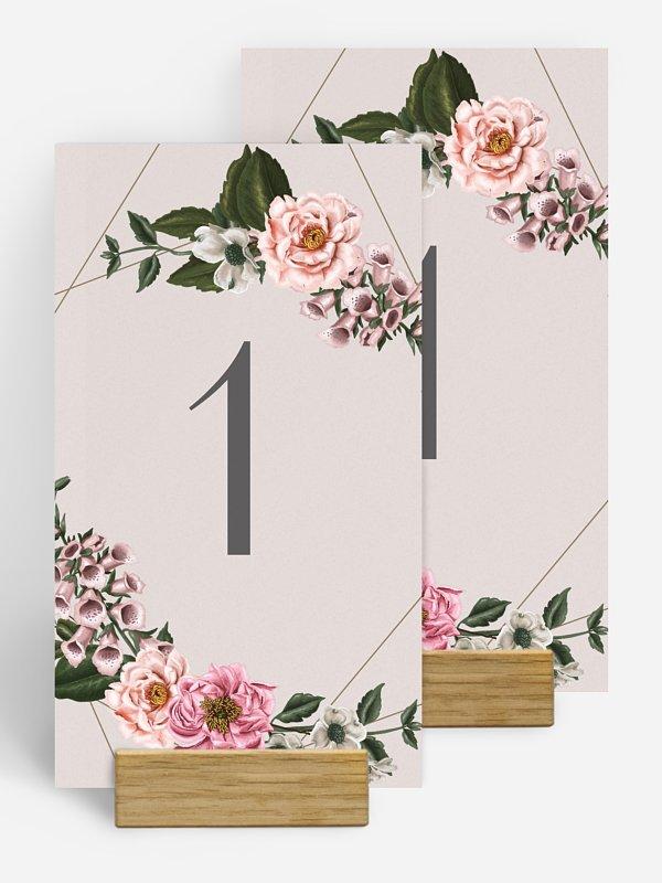 Tischnummer In Bloom