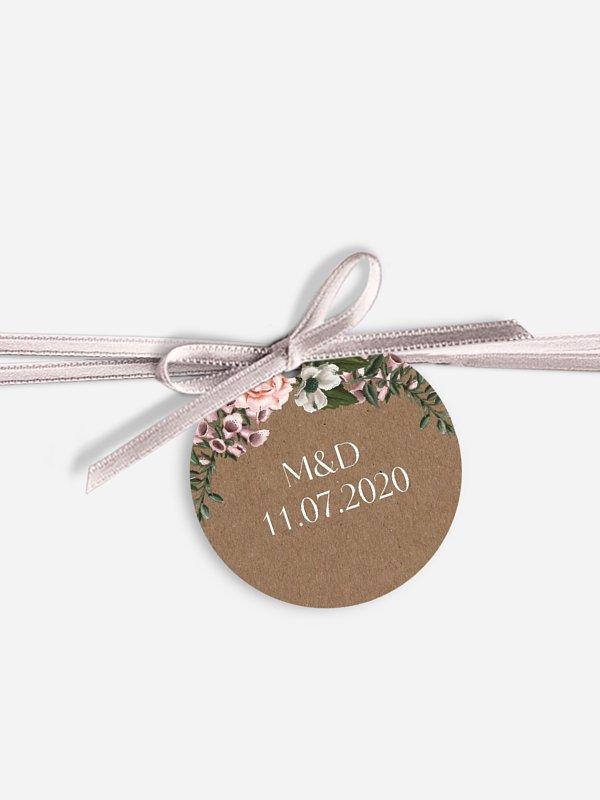 Étiquette avec ruban In Bloom
