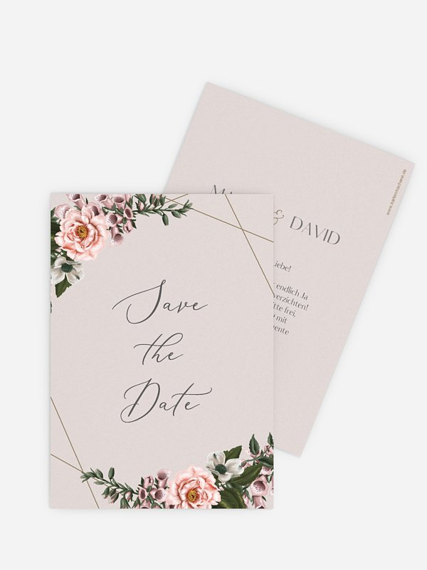 Save-the-Date Karte In Bloom