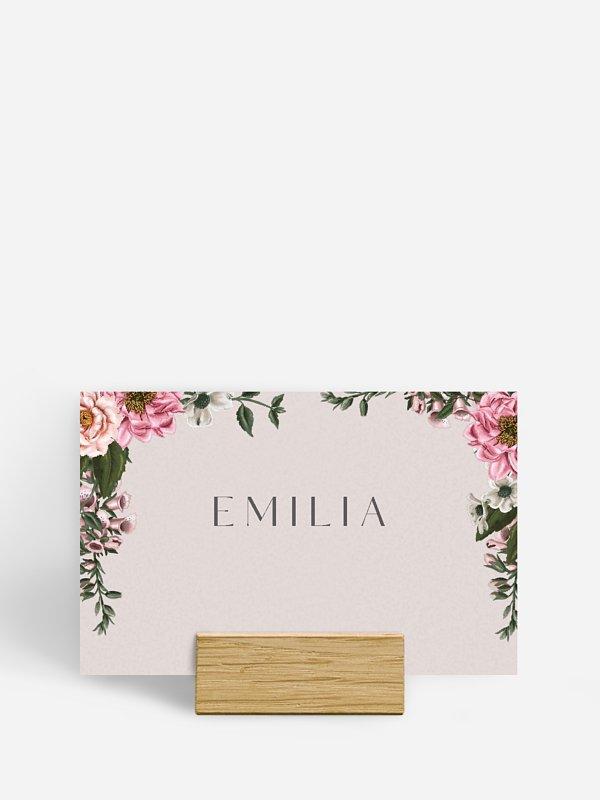 Tischkarte Hochzeit In Bloom