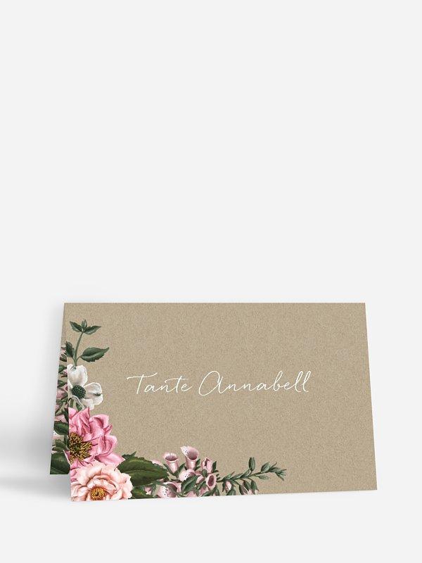 Tischkarte Geburtstag Florista