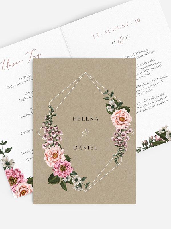 Hochzeitseinladung Florista