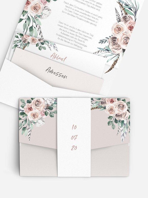 Hochzeitseinladung Blooming