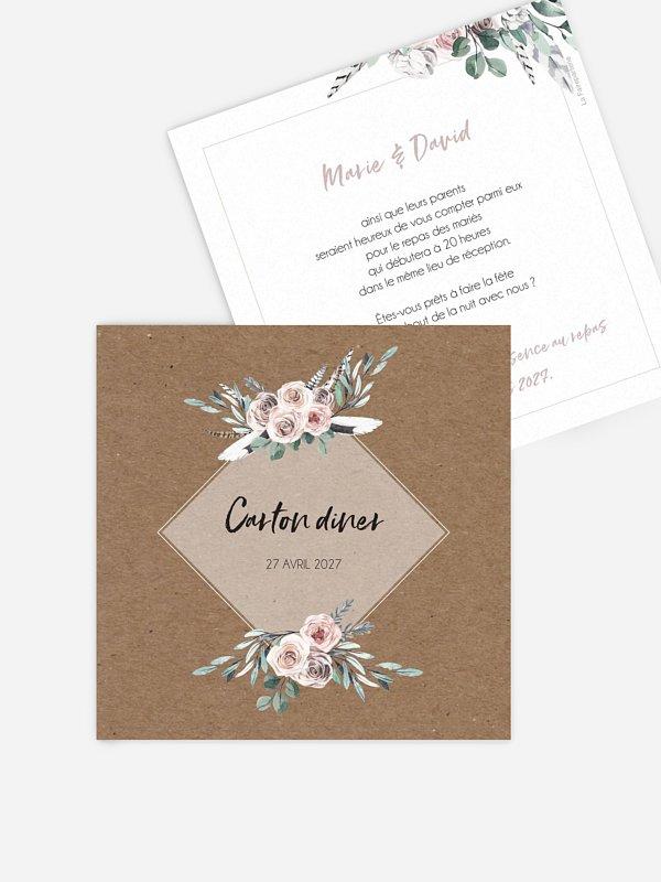 Carton d'invitation Blooming